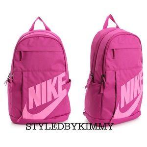 🌸 NIKE Trendy Backpack Schoolbag Bag NWT PINK